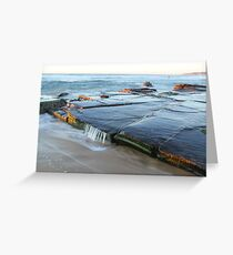 rock platform at Bar beach Greeting Card