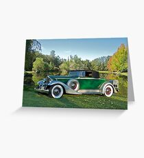 1933 Packard 1006 Convertible Greeting Card