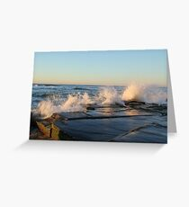 crashing waves at Bar beach Newcastle  Greeting Card