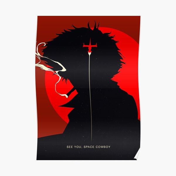 Cowboy Bebop Spike Silhouette Poster