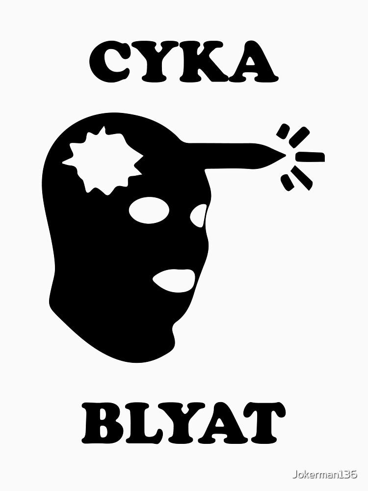 cyka blyat unisex t shirt a t shirt of gaming russian headshot