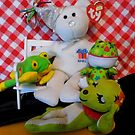 Teddy And His Green Birthday Buddies by WildestArt