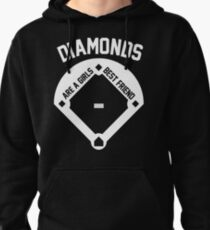 DIAMONDS ARE A GIRLS BEST FRIEND (VINTAGE BASEBALL) Pullover Hoodie