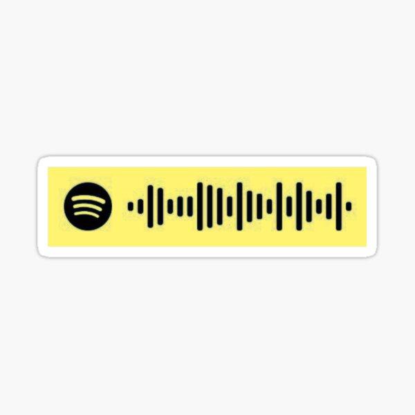 Golden Spotify scan Sticker