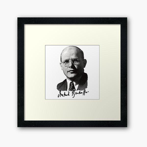 Dietrich Bonhoeffer Portrait Framed Art Print