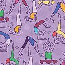 Yoga poses pattern by oksancia