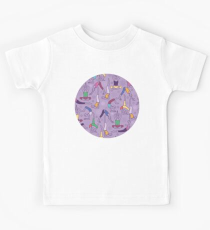 Yoga poses pattern Kids Clothes