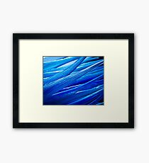 Blue Murano Glass abstract Framed Print
