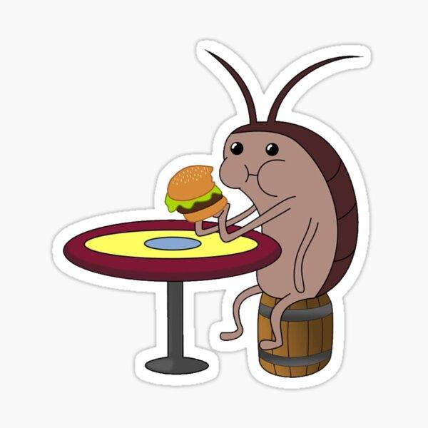 Roach eating burger spongebob Sticker