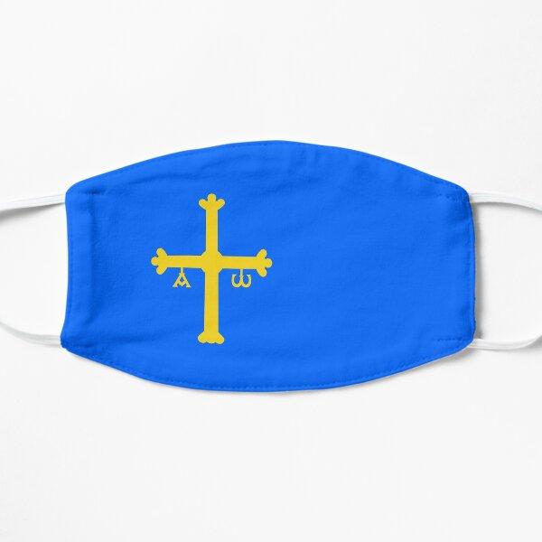 Regalos, pegatinas y productos de la bandera de Asturias Mascarilla plana