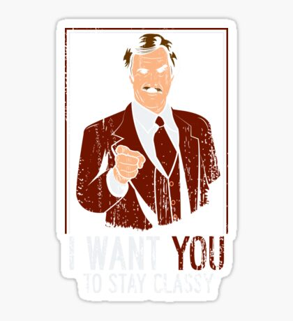 I want you to stay Classy Sticker