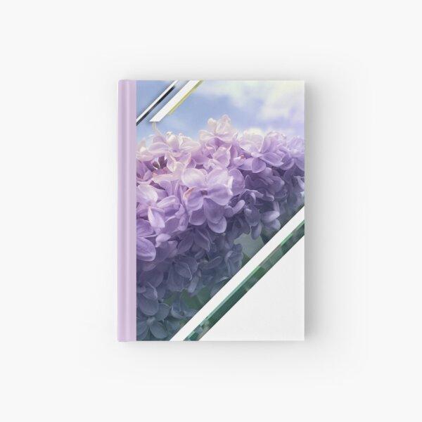 Lilac Siren flowers pop design Hardcover Journal