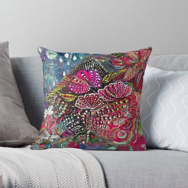 Butterfly Bloom Throw Pillow
