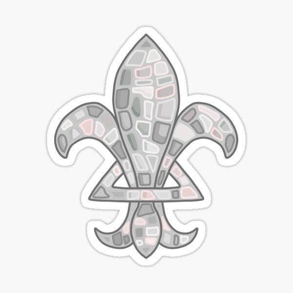 Camp Fleur De Lis Stone Logo Sticker