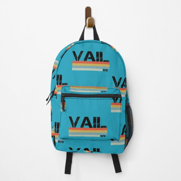 Vail City Area Code Retro Vintage Stripes   Backpack
