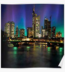 Northern Lights Hit Frankfurt (square) Poster
