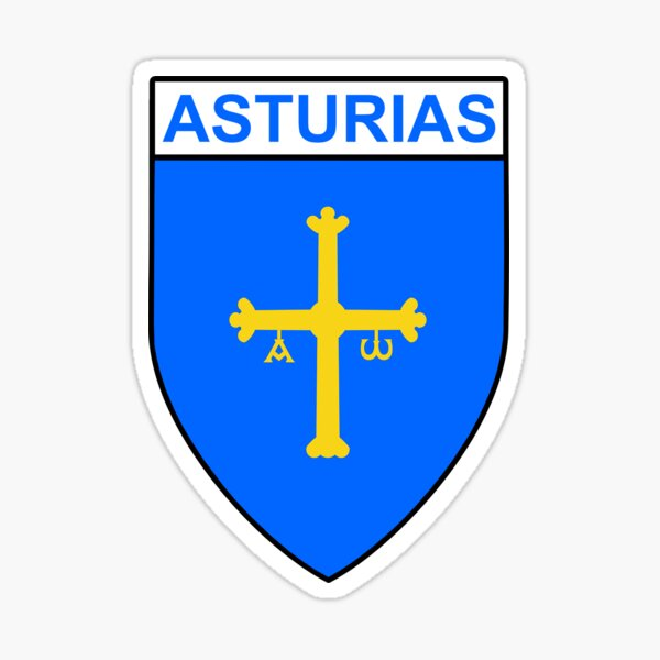Asturias Flag Gifts, Stickers & Products (GF) Sticker