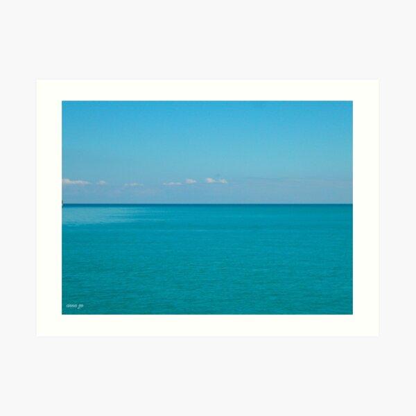 50 shades of blue Art Print