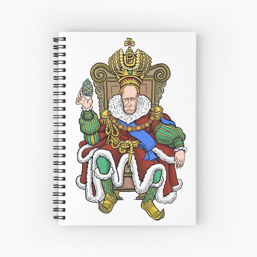 Vladimir Putin, Czar of Russia Spiral Notebook