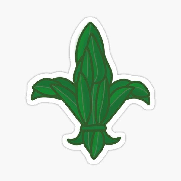 Fleur De Lis Camp Laurel Leaf Logo Sticker