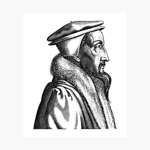 John Calvin Vintage Reformed Engraving Photographic Print