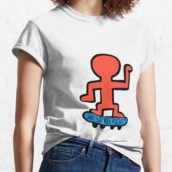 Skate or Kick Rocks Keith Haring Classic T-Shirt
