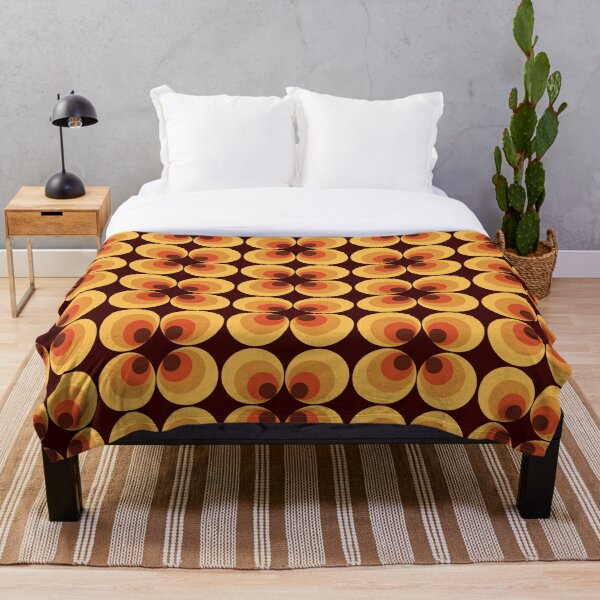Retro Orange Throw Blanket