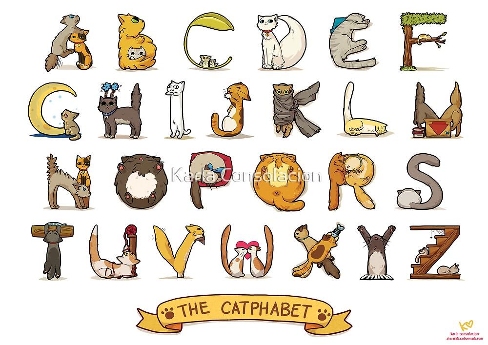 Cat Alphabet By Karla Consolacion Redbubble