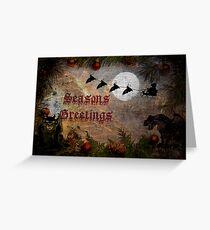 Bat Sleigh Greeting Card