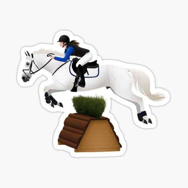 Grey Quart Horse Eventer - Equine Rampaige Sticker