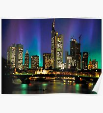 Northern Lights Hit Frankfurt (landscape) Poster
