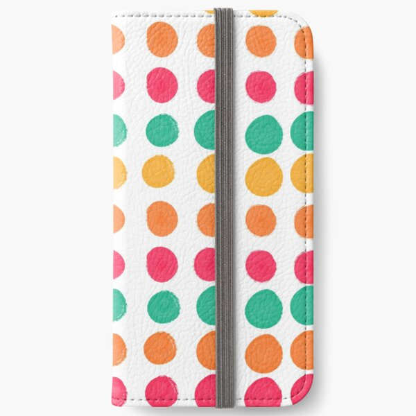 Tropical Dot Pattern iPhone Wallet