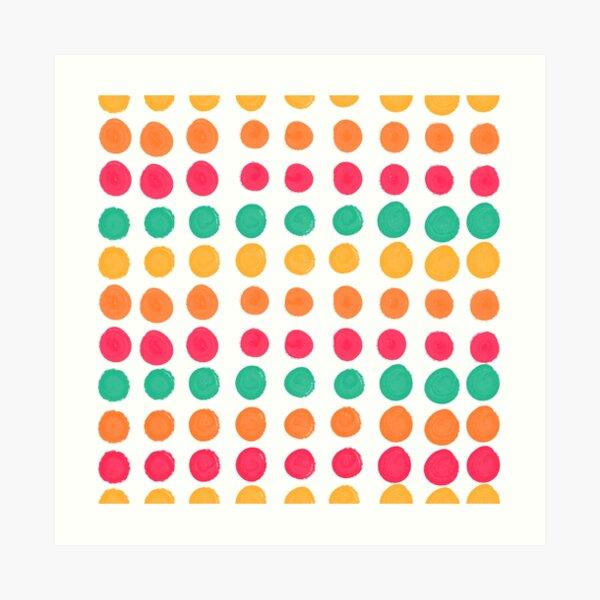 Tropical Dot Pattern Art Print