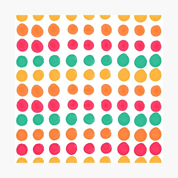 Tropical Dot Pattern Photographic Print