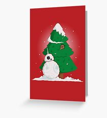 Snowdroid Greeting Card