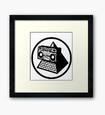 KLF Pyramid Blaster (Black) Framed Print
