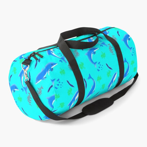 Dolphin - Sea Plants And Dolphin Animal Lovers - Dolphin , Gifts Duffle Bag