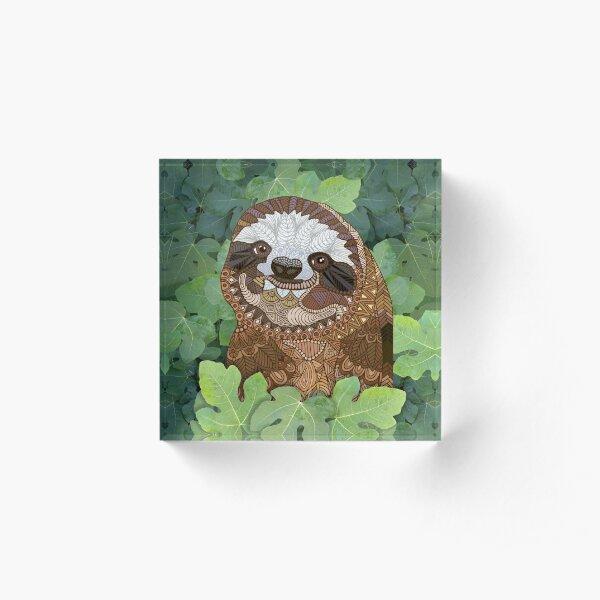 Happy Sloth Acrylic Block