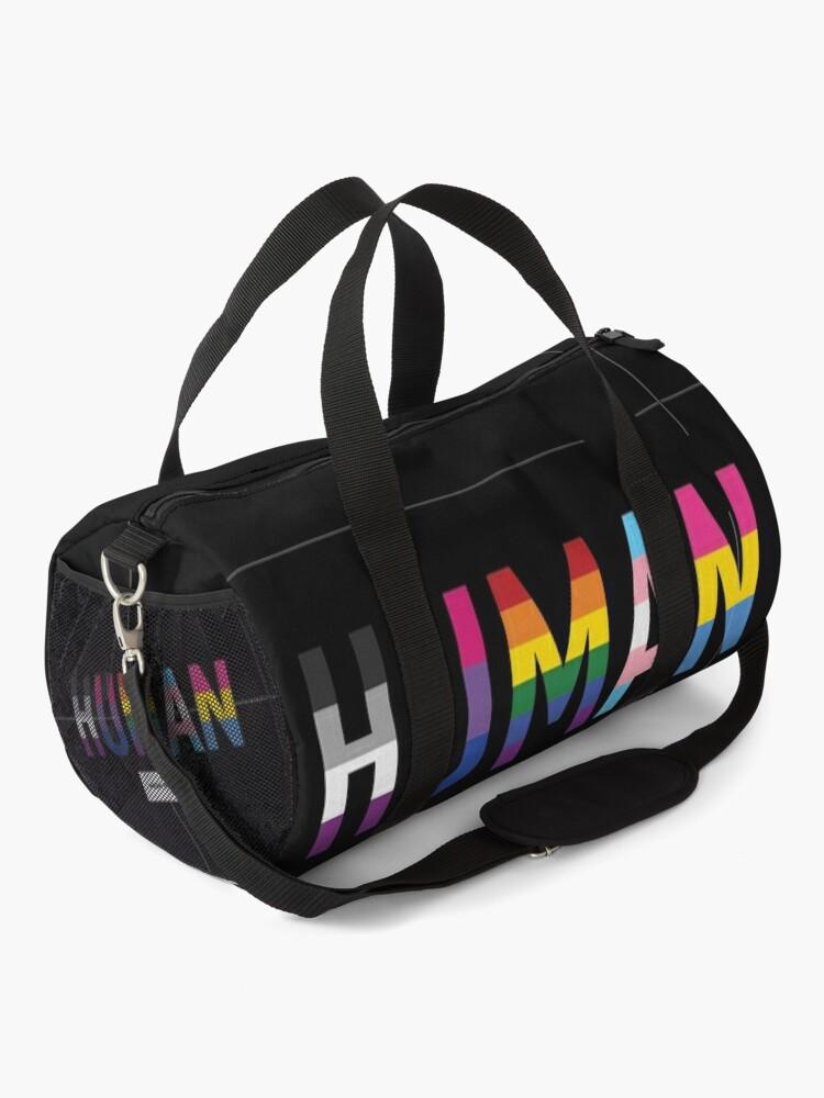 Alternate view of Human, Various Queer Flags 1 Duffle Bag