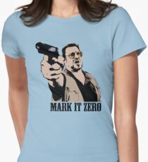 The Big Lebowski Mark It Zero Color Tshirt Womens Fitted T-Shirt