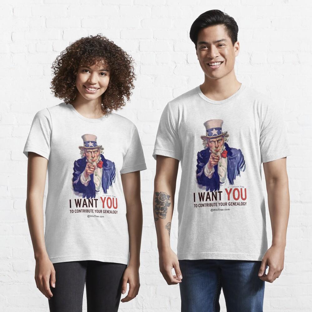 Ich möchte, dass SIE Ihre Genealogie beitragen ... @ wikitree.com Essential T-Shirt