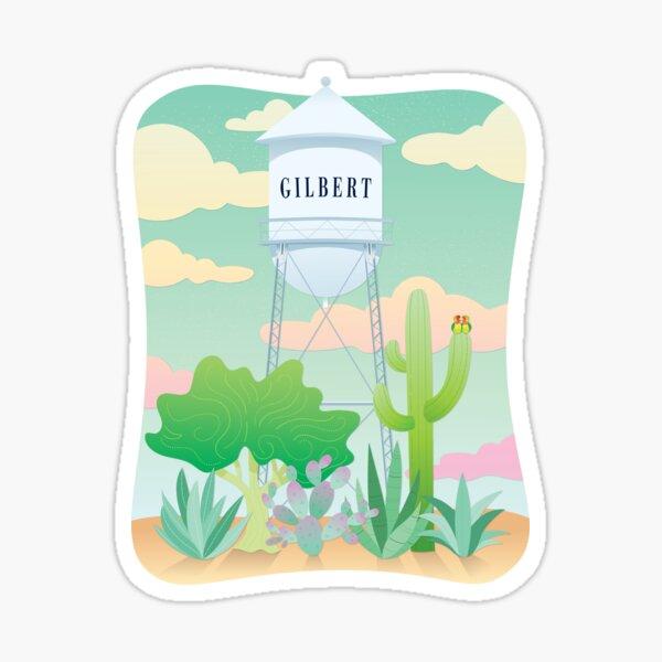 Gilbert Arizona Water Tower & Cactus Sticker