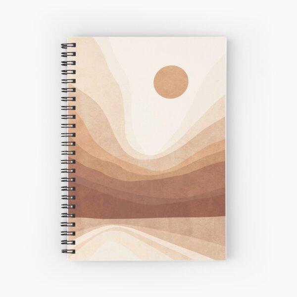 Earthy mountain sun landscape Spiral Notebook