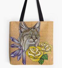 Bobcat w/ Amethyst Tote Bag