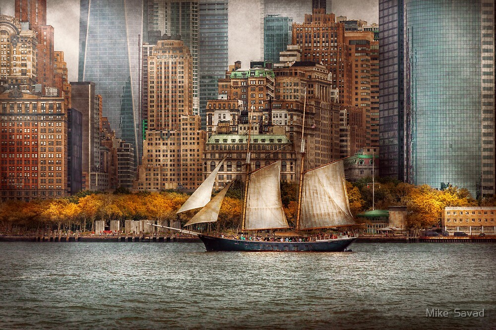 Boat - Governors Island, NY - Lower Manhattan by Michael Savad