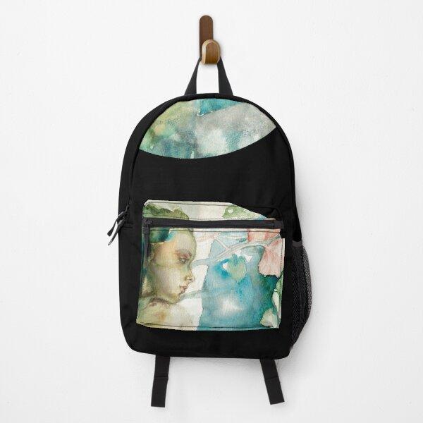 Dark mermaid art nouveau inspired design Backpack