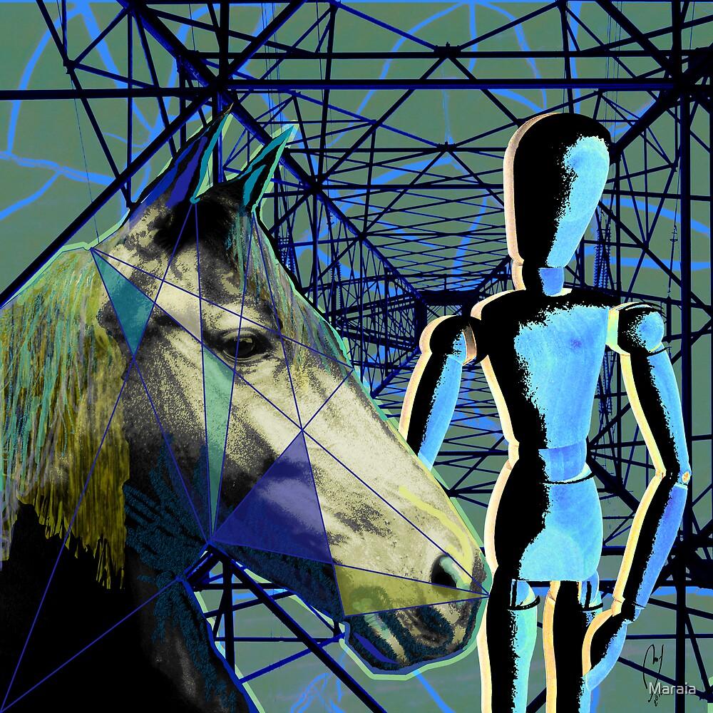 Horse and Rider by Maraia