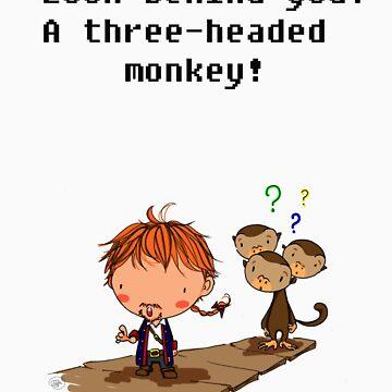 Three headed monkey!! by giugiu