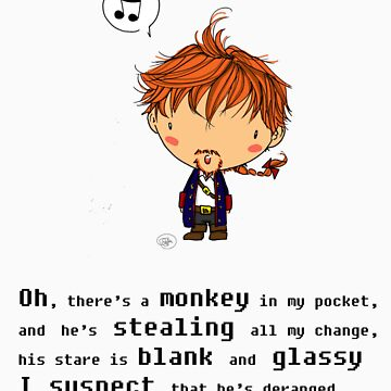 There's a monkey in my pocket by giugiu