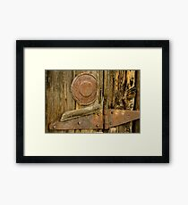 Barnboards and Rusty Hinge Framed Print